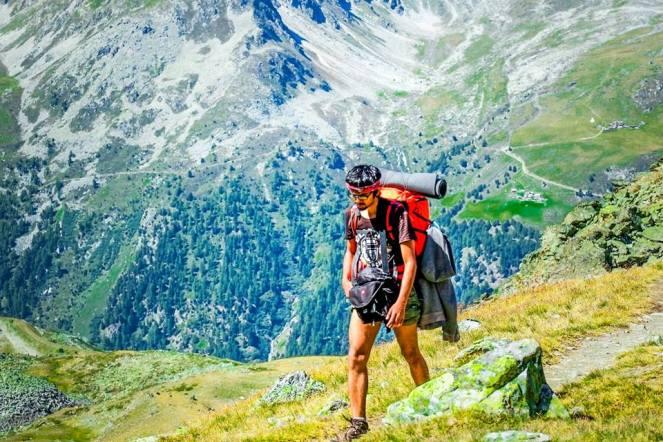 """Ronak Gandhi - On the way to last pass of """"Haute Route"""", Switzerland."""